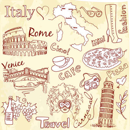 Sightseeing in Italy Vector