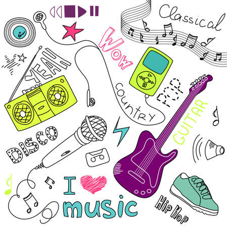 girly: Music Vector Doodles