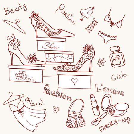 dessin coeur: La collection de graphiques coin boutique