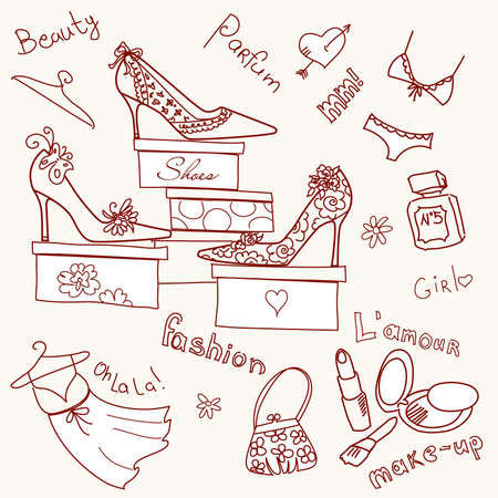 The Corner boutique graphics collection  Vector