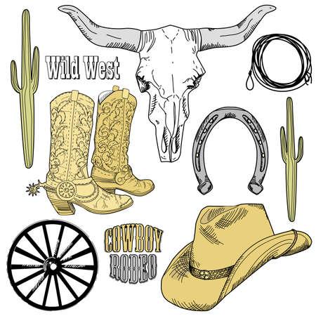 Wild West Western Set Stock Vector - 10937718