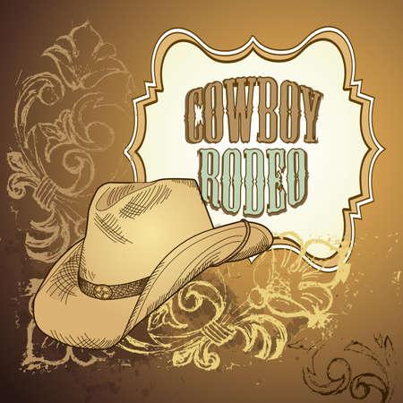 vaquero: Dise�o del sombrero de vaquero