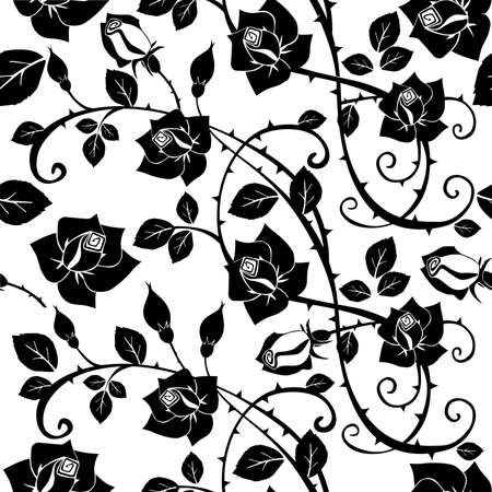 Seamless Floral Rose pattern Vector