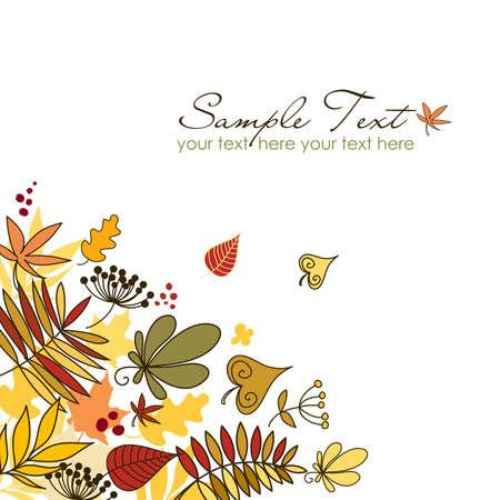 feuillage: Belles d'automne les feuilles tombées Illustration