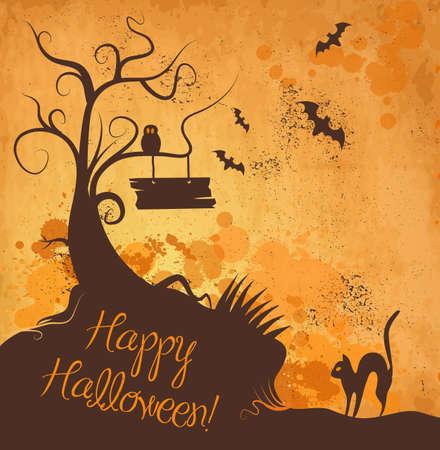Halloween grunge vector background
