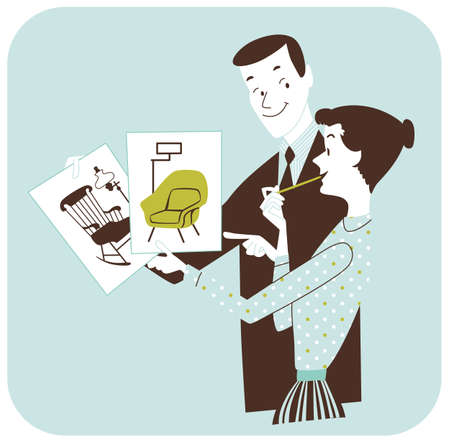 Choosing Furniture - Couple Redecorating