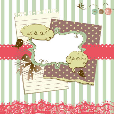 whimsical pattern: Cute scrapbook elements