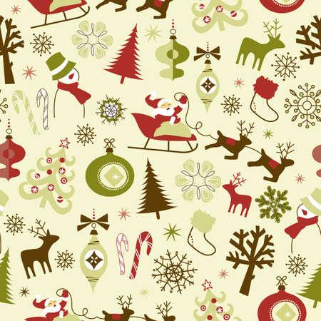 Christmas seamless pattern Vettoriali