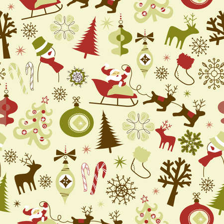 Christmas seamless pattern Vectores