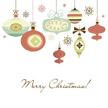 Retro Kerst ornamenten