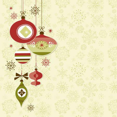 Retro Natale Ornamenti Archivio Fotografico - 11059352