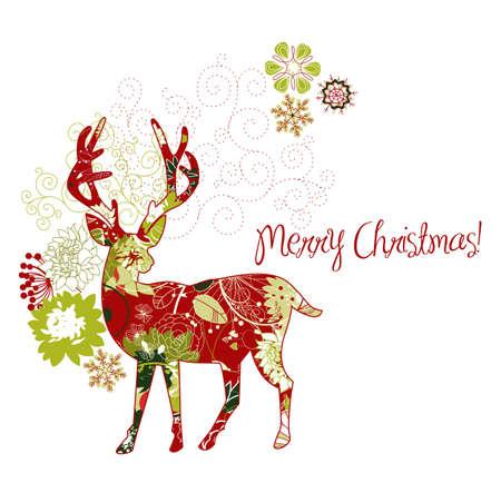 Christmas deer Stock Vector - 11059296