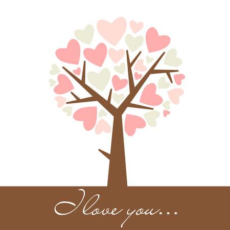 abstract heart tree  Vector