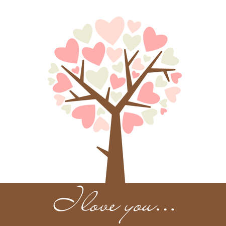 abstract heart tree  Vector
