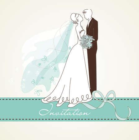 elegant couple: Vintage Wedding background