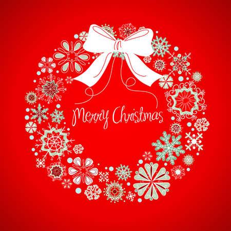 snow wreath: Christmas wreath
