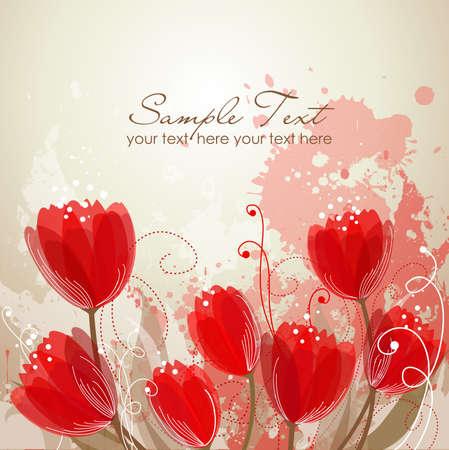 flores de cumplea�os: Flor de fondo rom�ntico Vectores