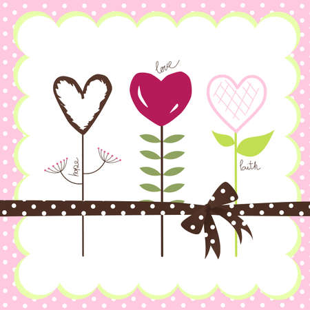 whimsical pattern: Flowers from the garden of LOVE