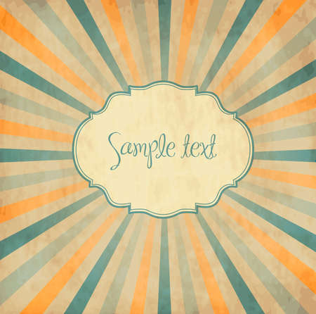 Vintage template, colored sun burst background. Stock Vector - 11122228