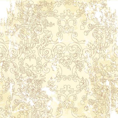dibujo vintage: Fondo floral de la vendimia. Ilustraci�n vectorial. Vectores