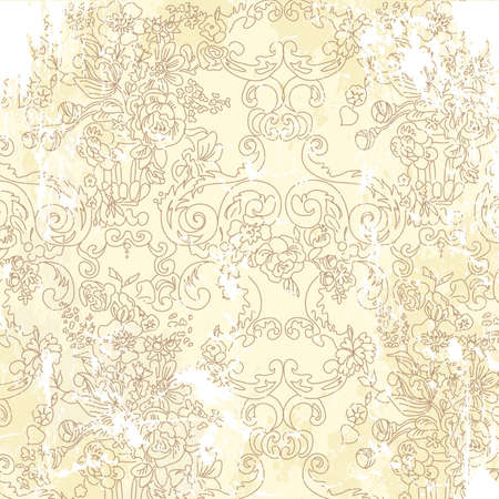 vintage wallpaper: Vintage floral background. Vector illustration.