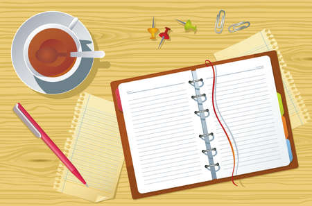 diary: Vector office supplies Illustration
