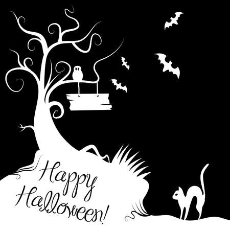 Black and White Halloween Stock Vector - 11186660
