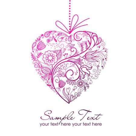 folkart: valentine card