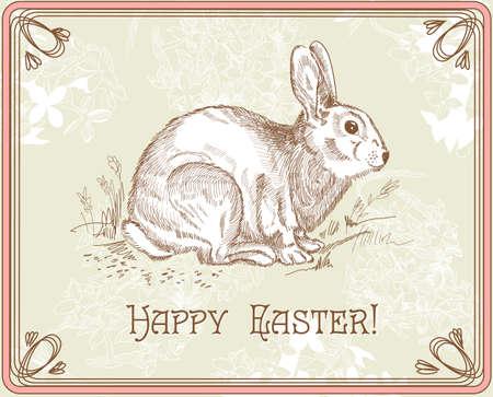 liebre: Vintage conejo de Pascua
