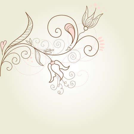 Bloemen wenskaart Stock Illustratie