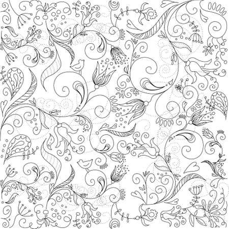 Tarjeta de felicitación floral Foto de archivo - 11157988