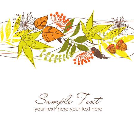 autumn leaf frame: Hojas de oto�o Vectores