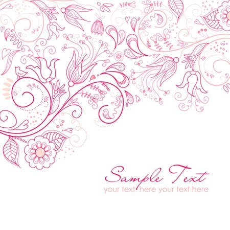 pastel backgrounds:  Floral greeting card