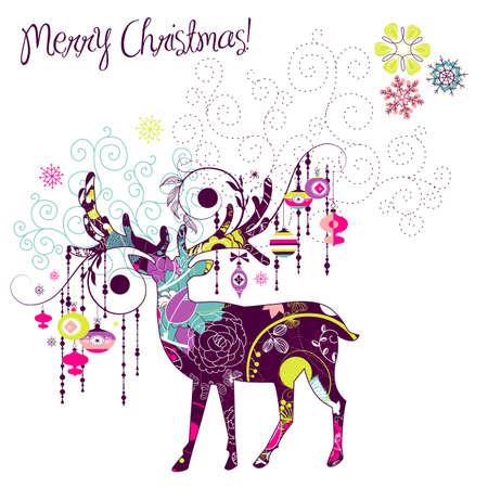 reindeer: Ciervos de la Navidad