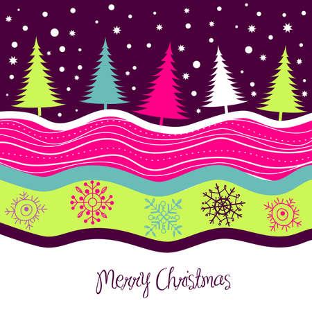 国のクリスマス カード  イラスト・ベクター素材