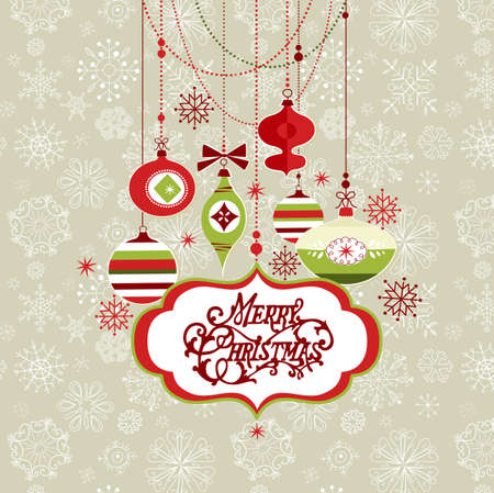 Retro Cristmas background Vector