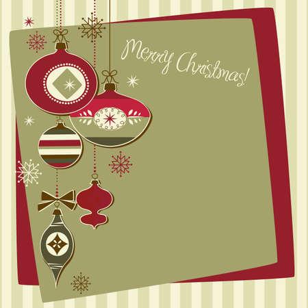 Retro Ornamenti di Natale Archivio Fotografico - 11419713