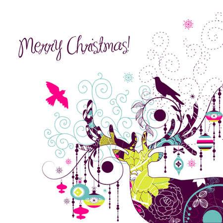 greeting: Christmas deer