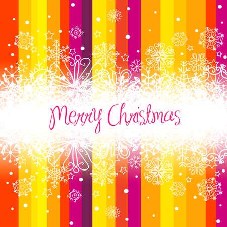 크리스마스 배경, 줄무늬와 눈송이