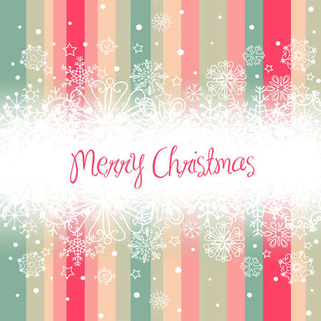 Christmas background, stripes and snowflakes  Vector