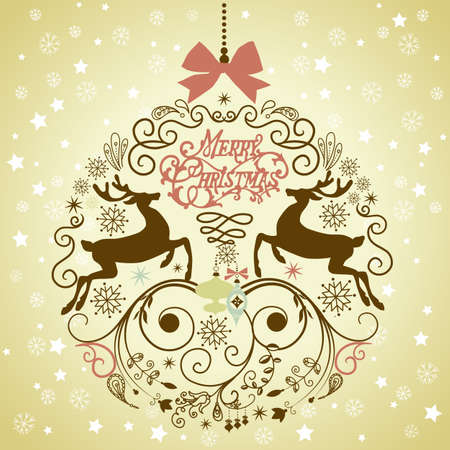 Beautiful Christmas ball illustration.  Vector
