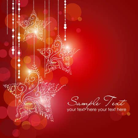 invitación a fiesta: Navidad Strars fondo