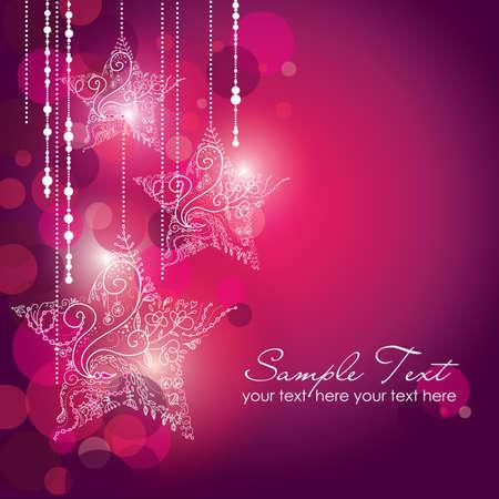 estrellas de navidad: Estrellas de Navidad de fondo Vectores