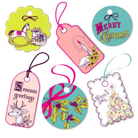 ribbons and bows: Christmas tags