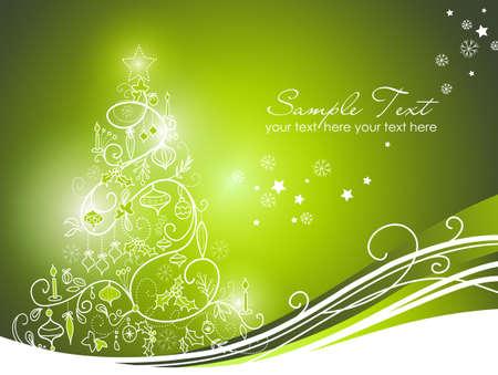 Mooie Kerstboom op rode achtergrond Stockfoto - 11566412