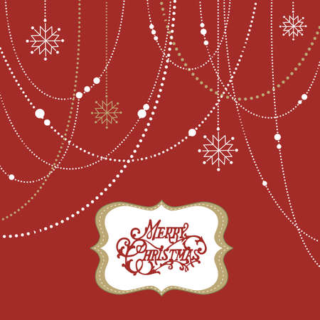 Abstract Christmas Background, christmas decorations, snowflakes and a frame Stock Photo - 11566395