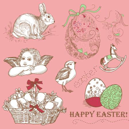 Vintage Easter Set  photo