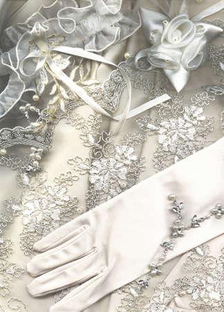 lace gloves: textile wedding background