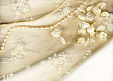 bead embroidery: textile wedding background