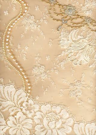 lace: Lujo de fondo de la boda con un mont�n de espacio de la copia Foto de archivo